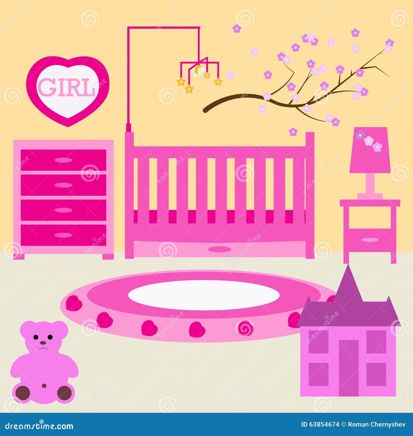 Chambre d 39 enfant pour la fille nouveau n e chambre for Chambre a coucher enfant
