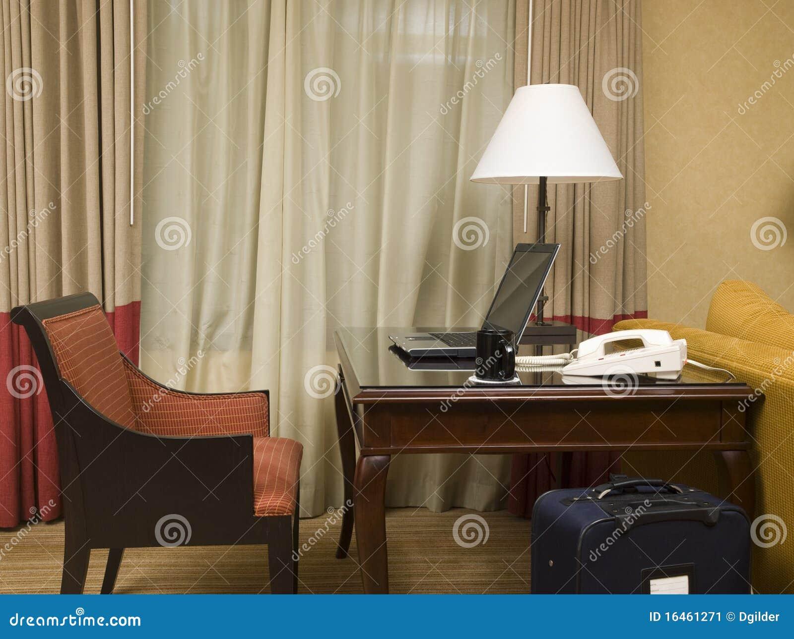 Chambre d hôtel bureau vide image stock image du seul prise