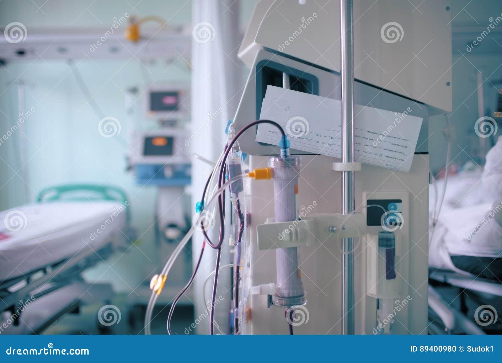 Chambre d hôpital comme fond médical