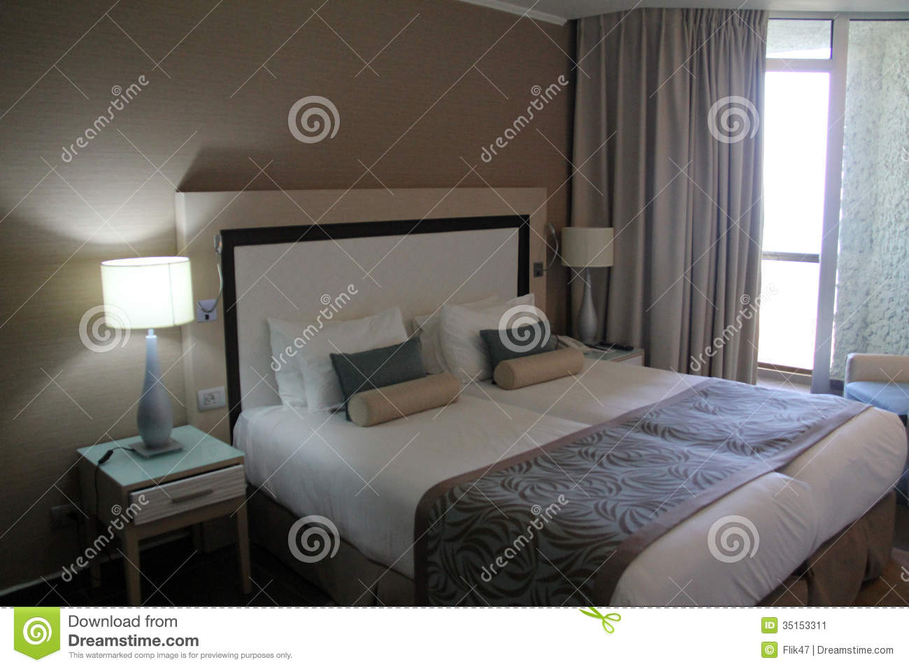 Chambre d 39 h tel image stock image 35153311 for Chambre d hotels