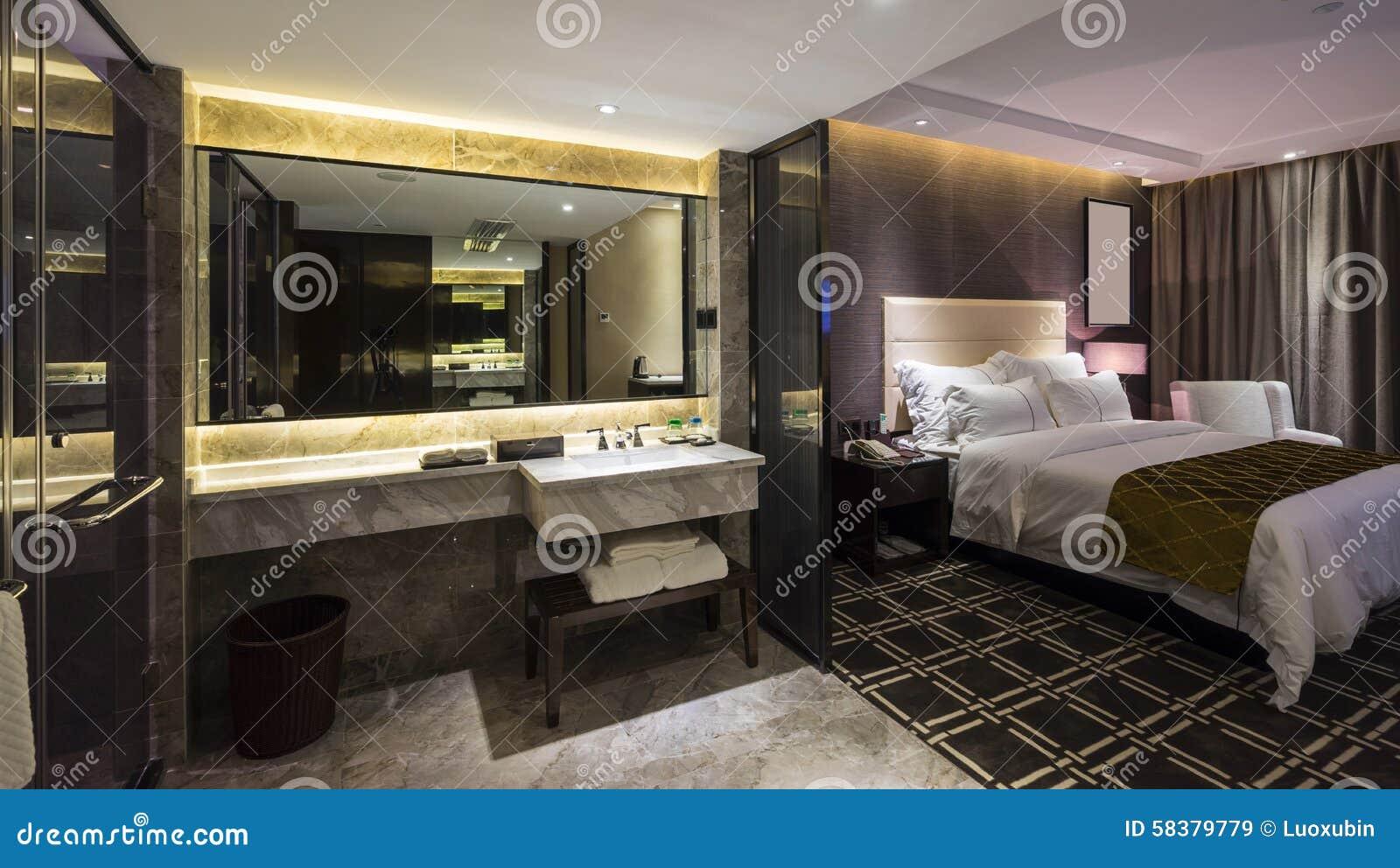 chambre d 39 h tel de luxe image stock image du meubles 58379779. Black Bedroom Furniture Sets. Home Design Ideas