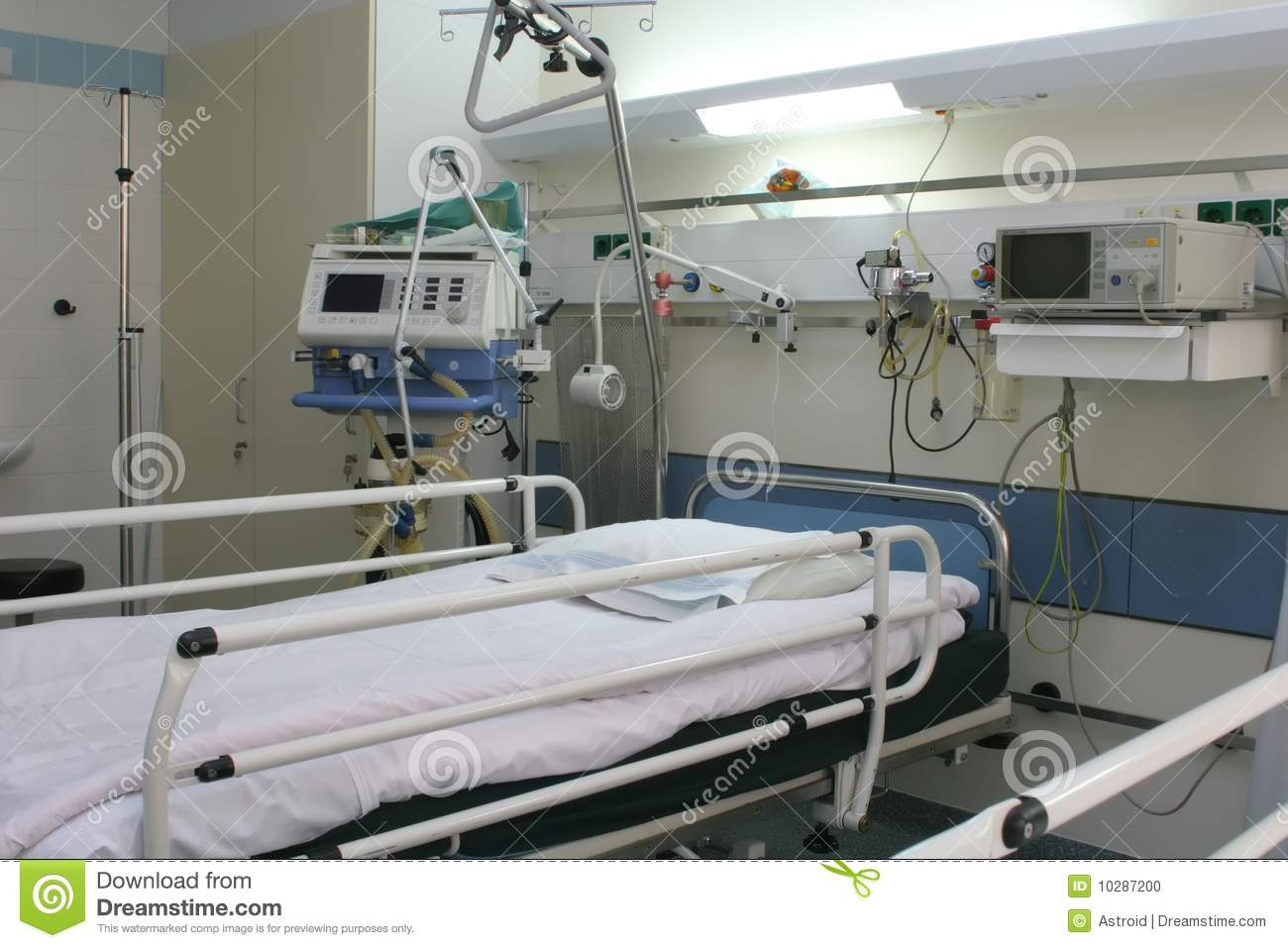 Chambre d 39 h pital de cardiologie photo stock image 10287200 for Chambre hopital