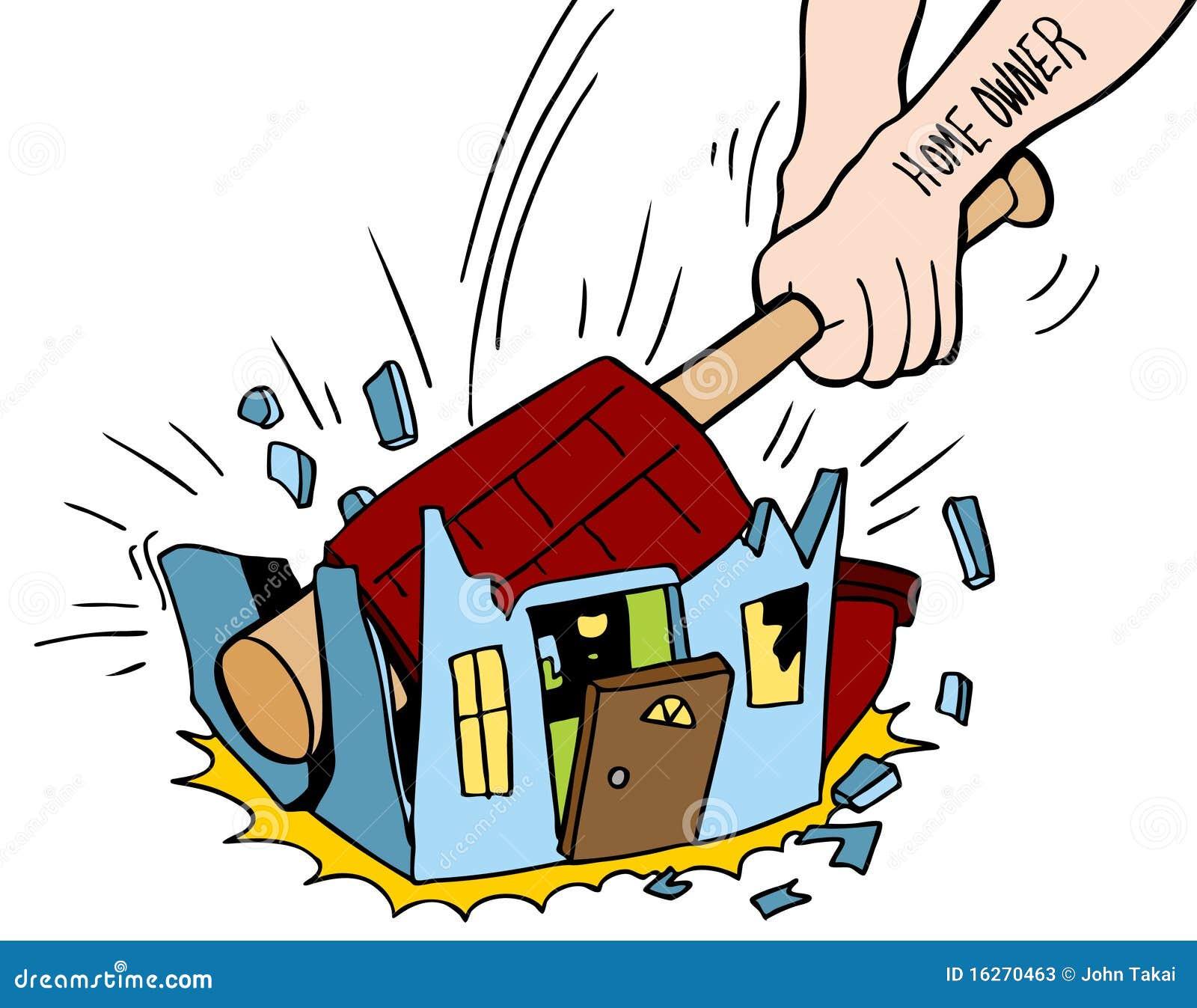 Chambre de destruction de propri taire d 39 une maison photos stock image - Destruction d une maison ...