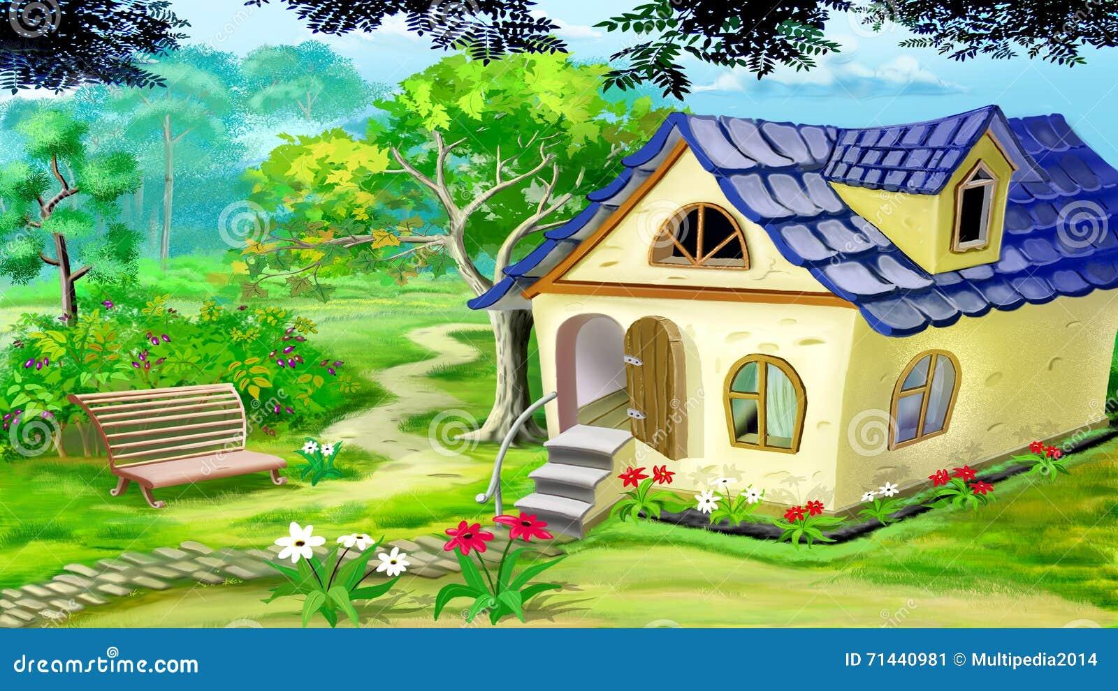 Chambre de jardin de village