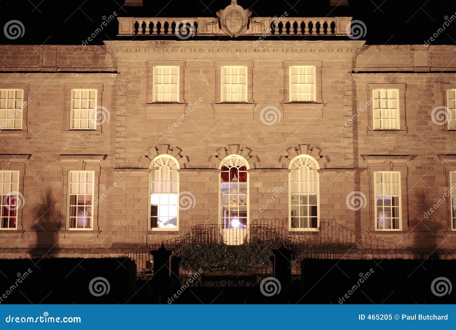 Chambre de manoir la nuit ecosse photo libre de droits - Chambre de nuit ...