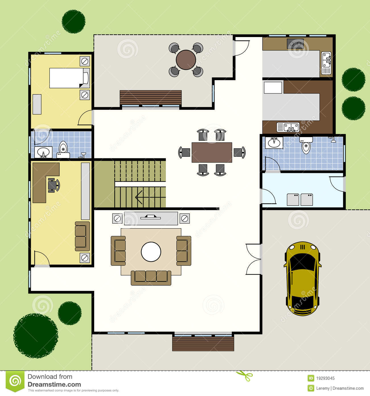 Chambre de plan d 39 architecture de floorplan illustration for Plan d architecture