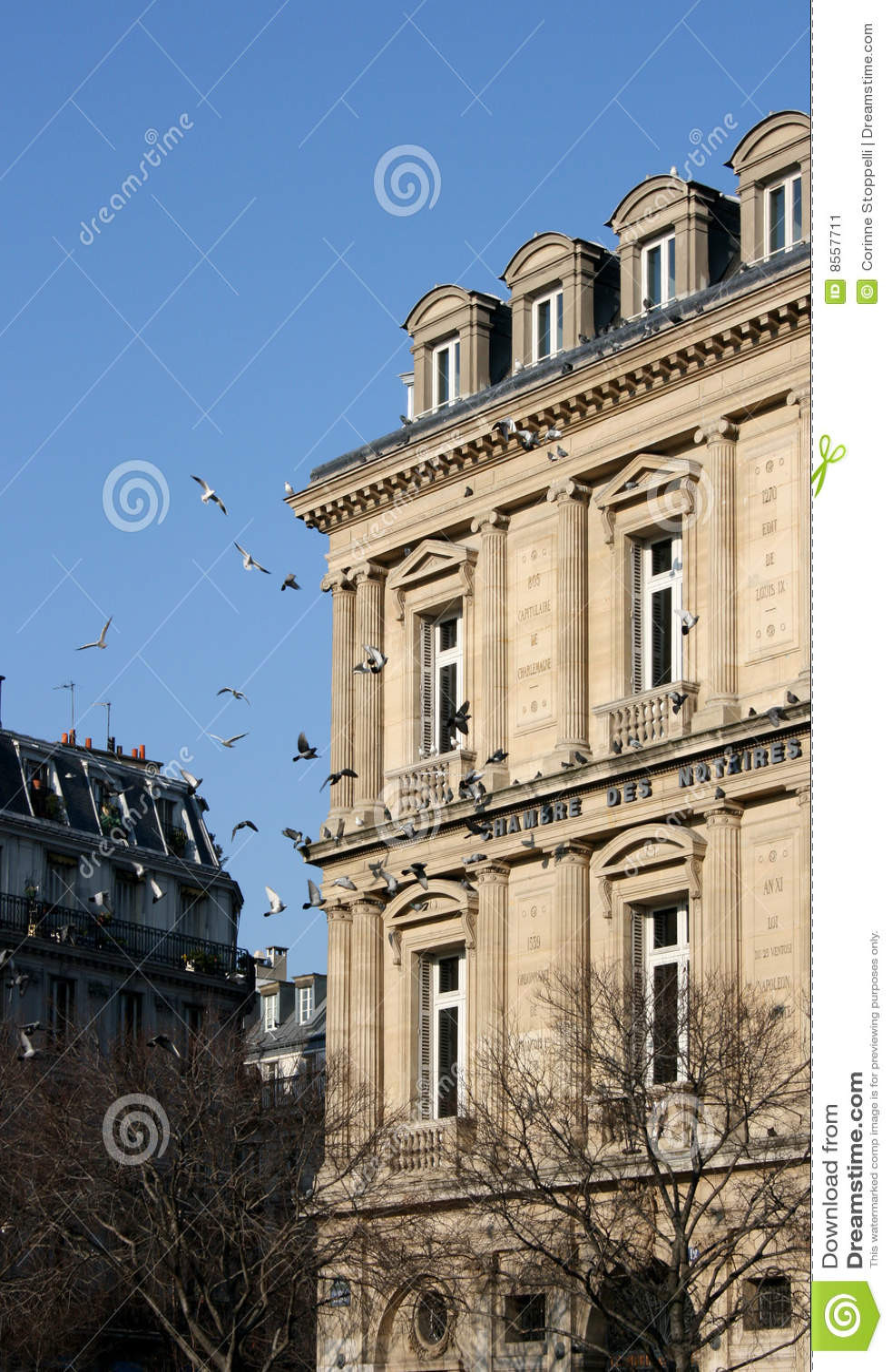 chambre des notaires paris stock image image 8557711