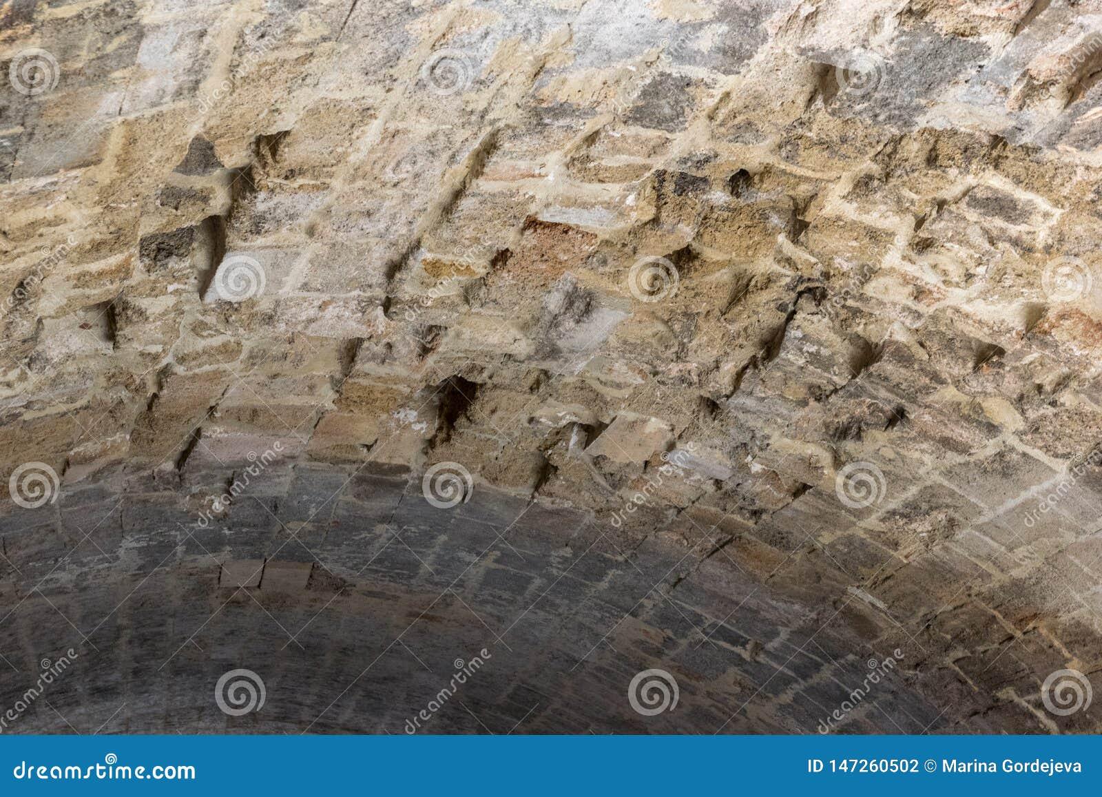 Chambre forte d une voûte en pierre antique