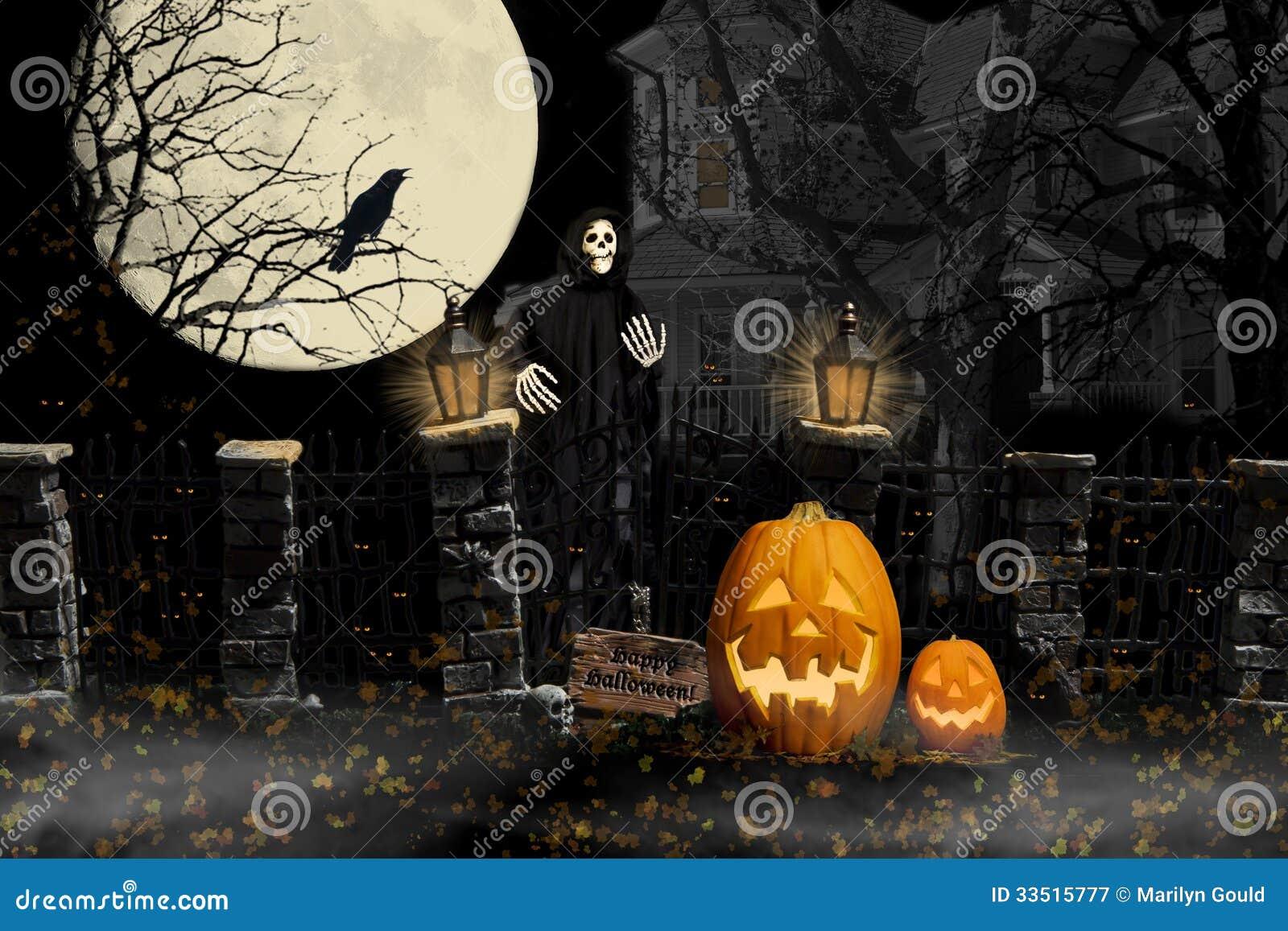 Chambre hantée par goule de Halloween