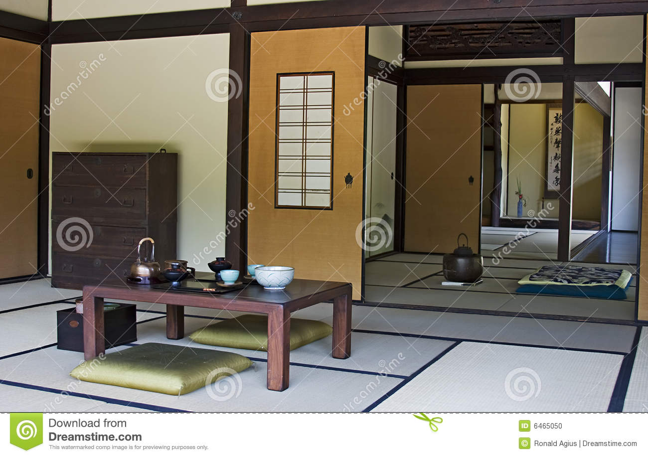 chambre japonaise photo stock image du conception japan 6465050. Black Bedroom Furniture Sets. Home Design Ideas