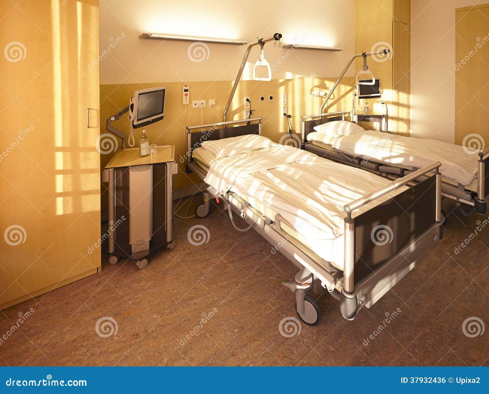 Chambre pour deux personnes de lit d 39 h pital image libre for Chambre d hopital