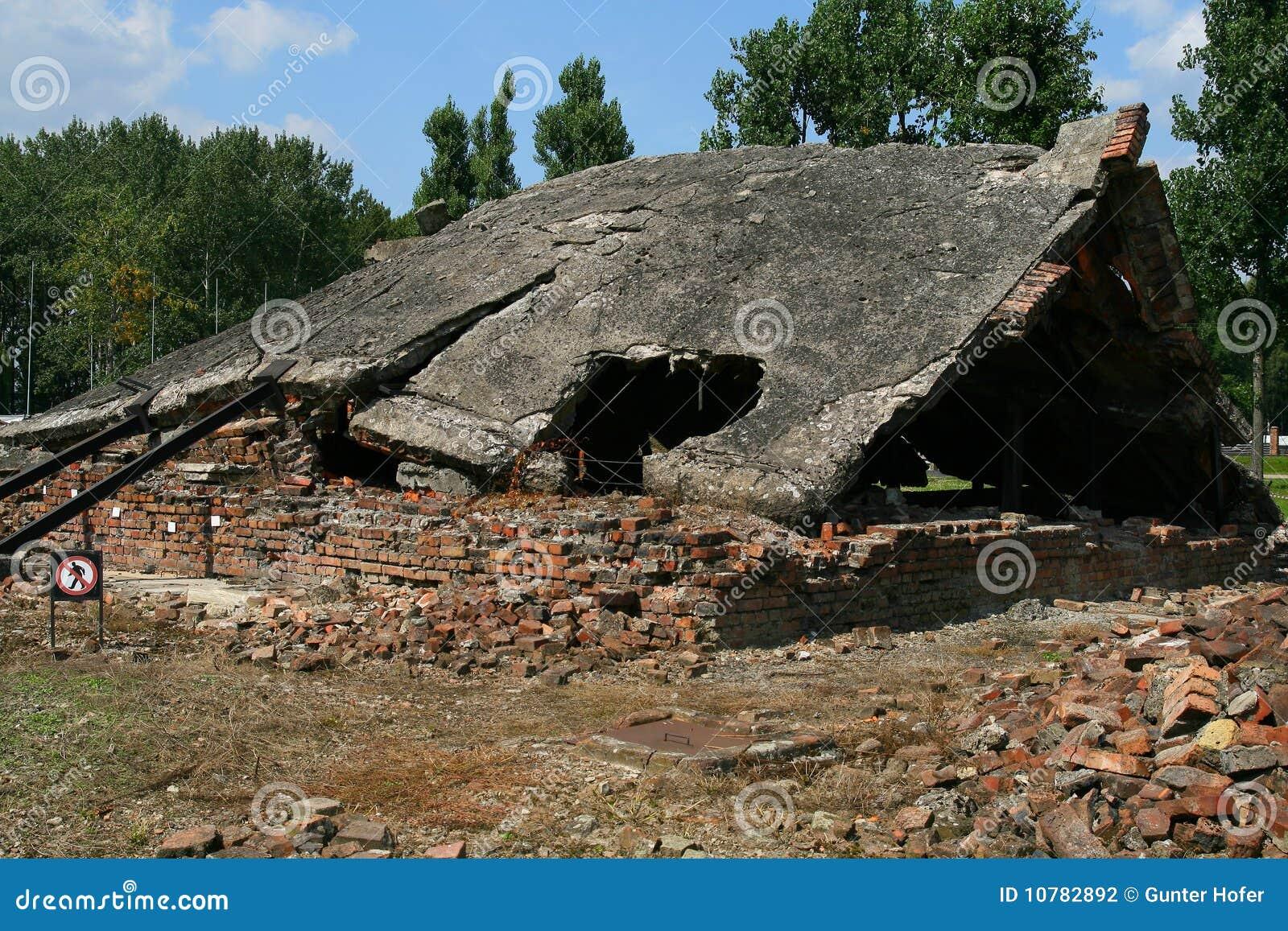 Chambres gaz d 39 auschwitz photographie ditorial image - Existence des chambres a gaz ...