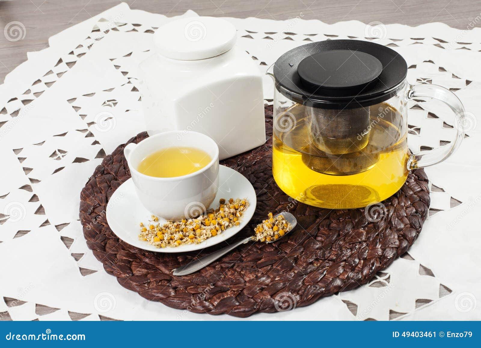 Download Chamonile-Tee stockbild. Bild von getrocknet, heiß, betrieb - 49403461
