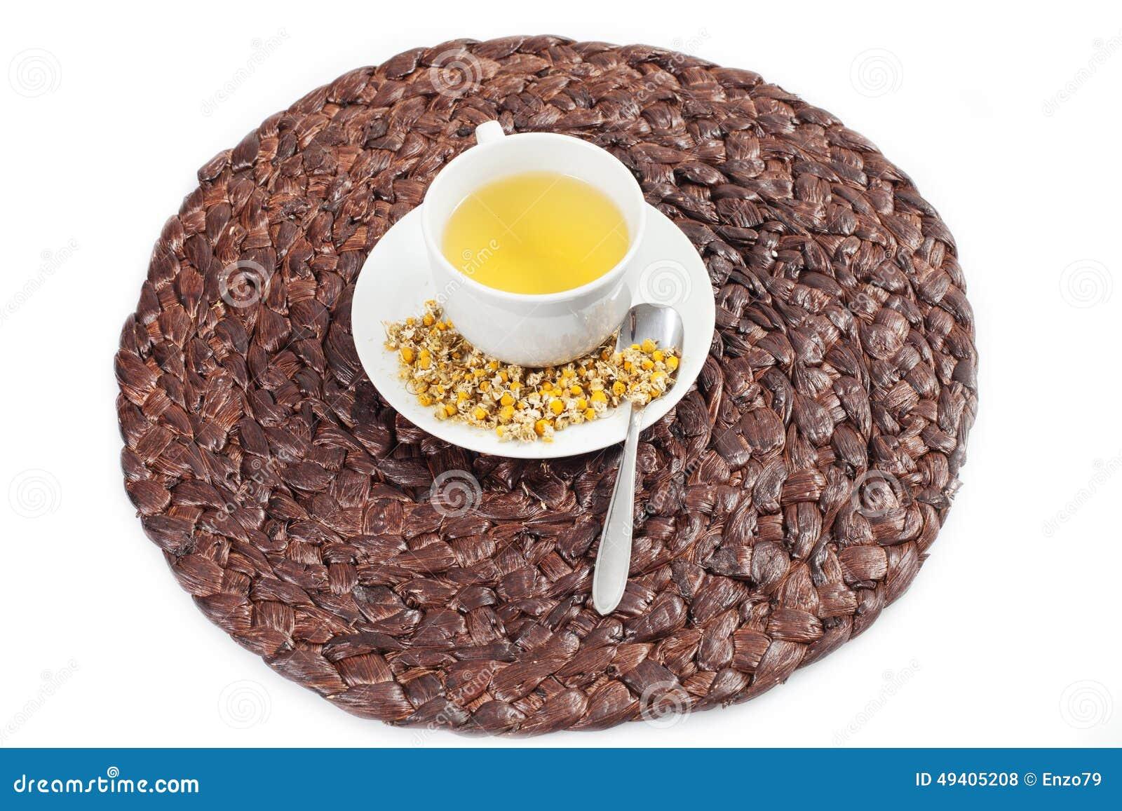 Download Chamonile-Tee stockfoto. Bild von hintergrund, kamille - 49405208