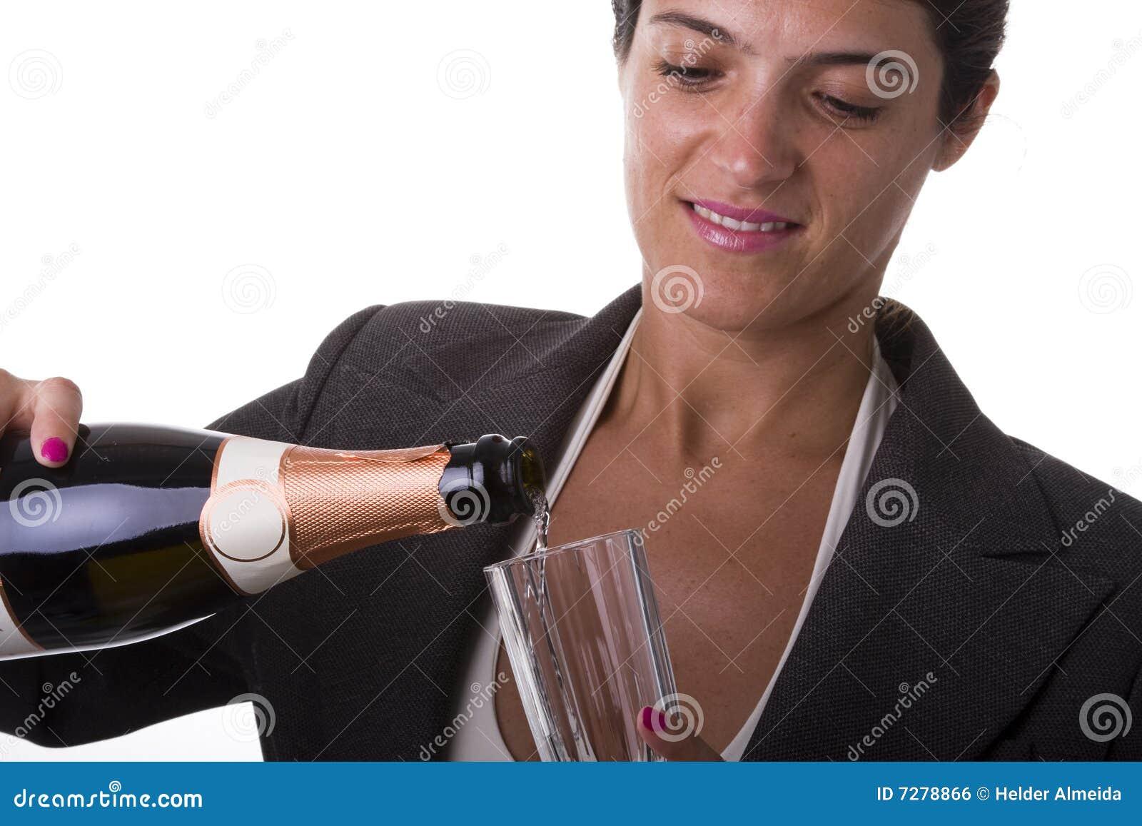 Champán de consumición de la mujer
