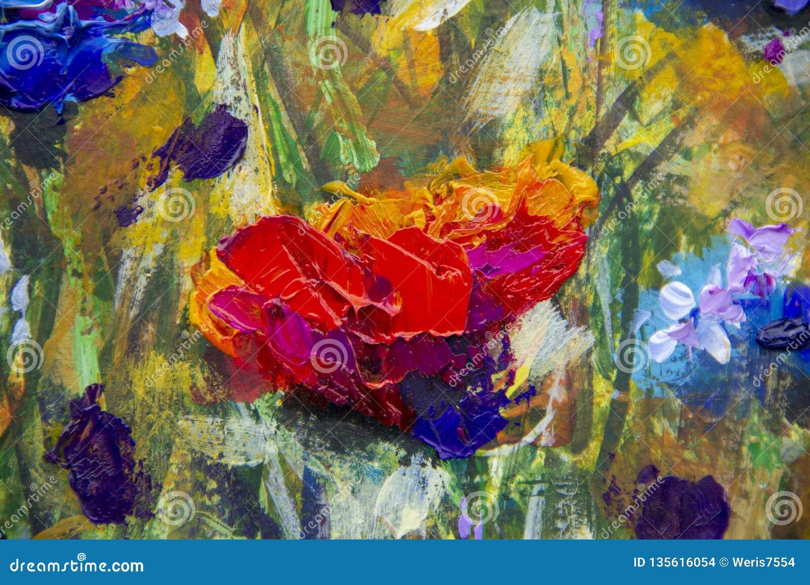 Champ De La Peinture à L Huile Moderne D Impressionisme De