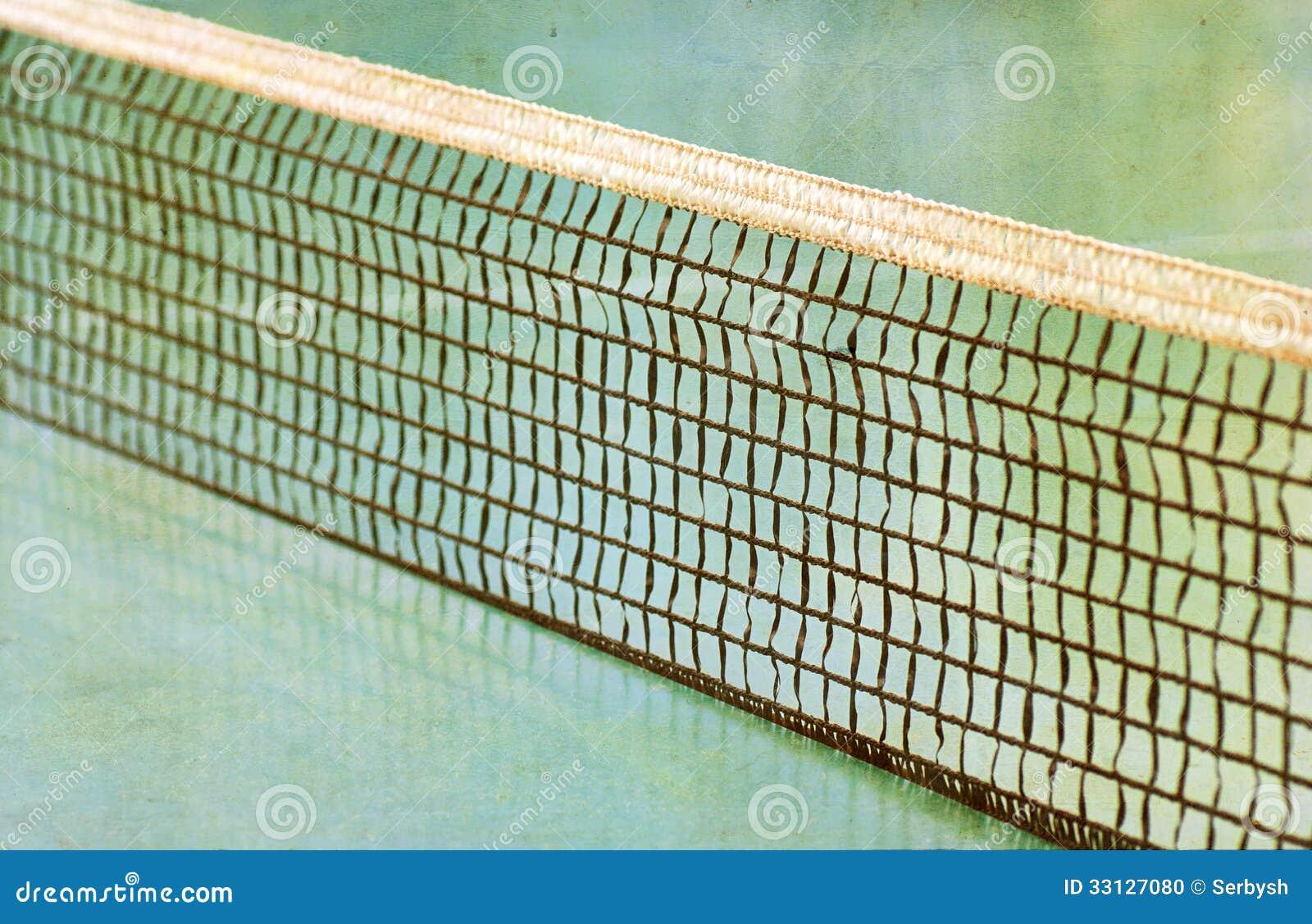 champ de tennis et un filet de tennis photo stock image. Black Bedroom Furniture Sets. Home Design Ideas