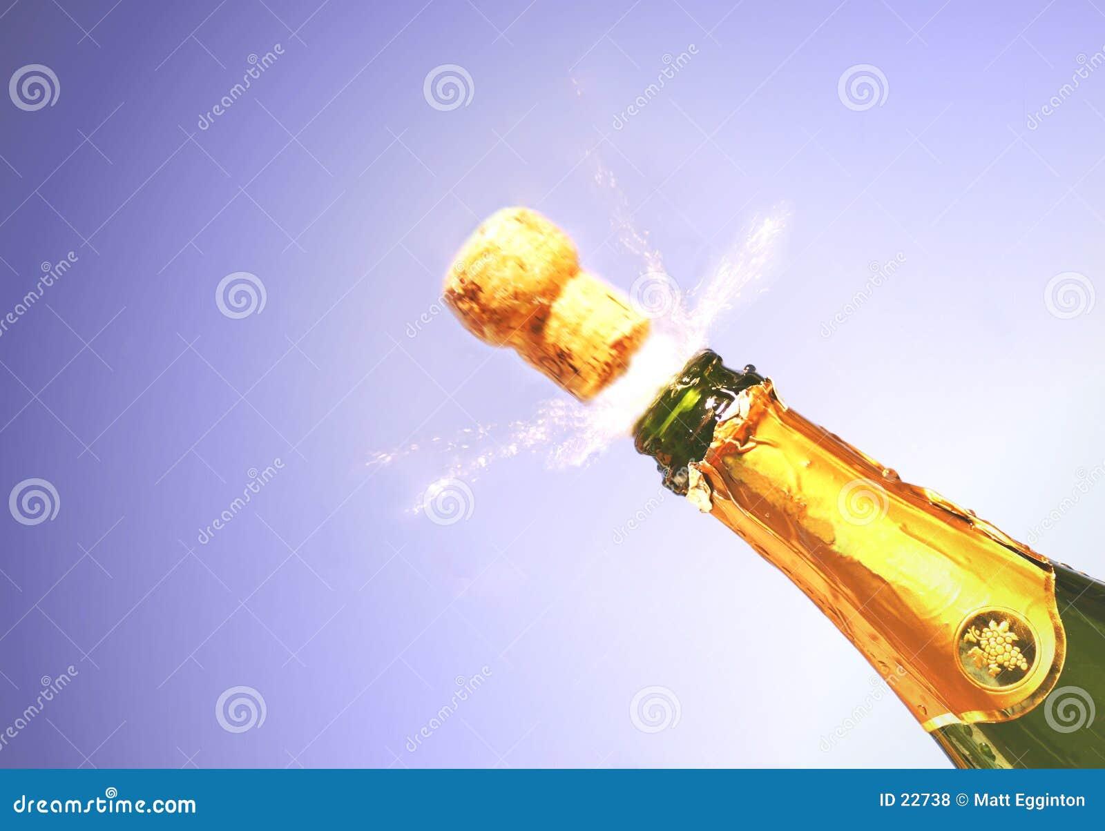 Champagne éclatent