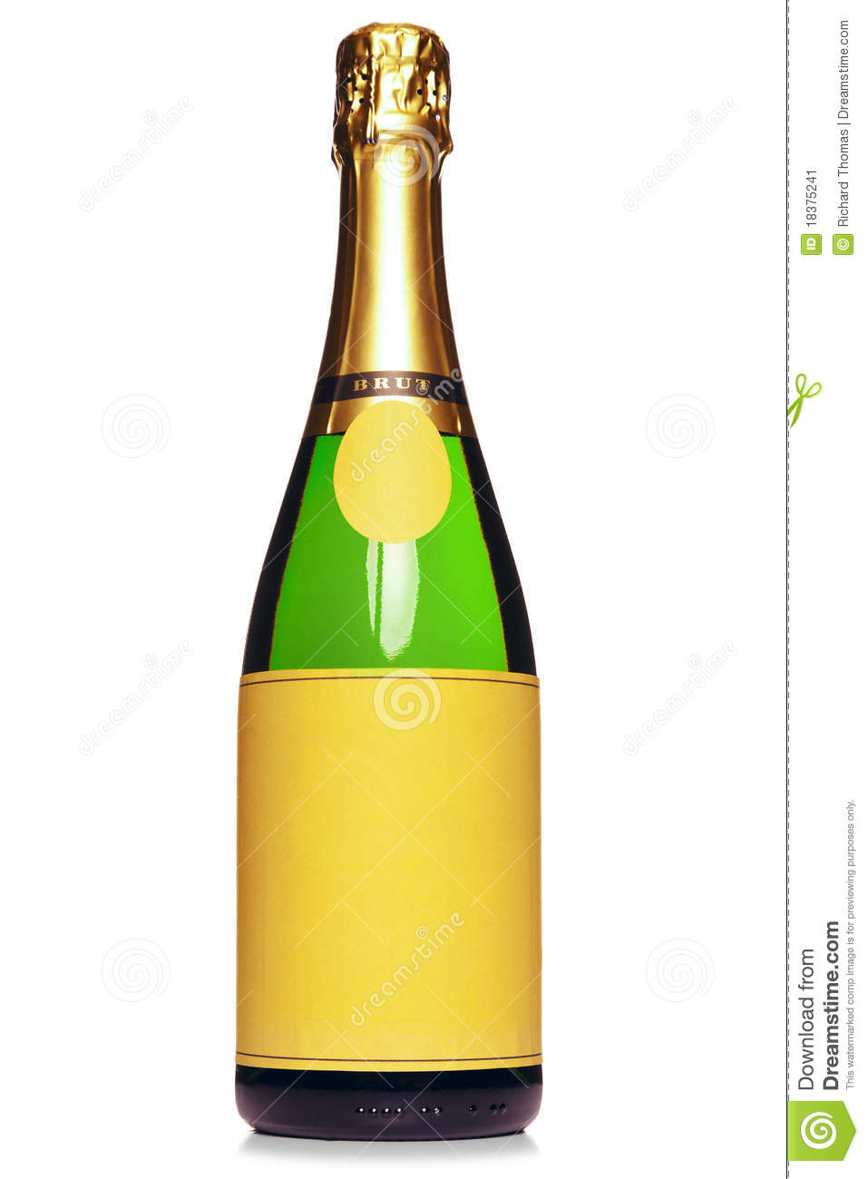 Champagne Bottle Clip Art Champagne bottle isolated on