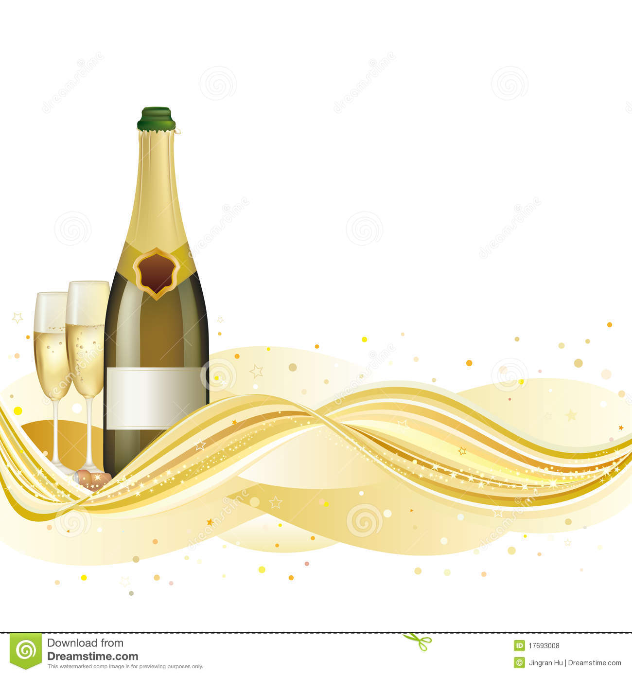 Champagne Celebrate Background Stock Vector Image 17693008
