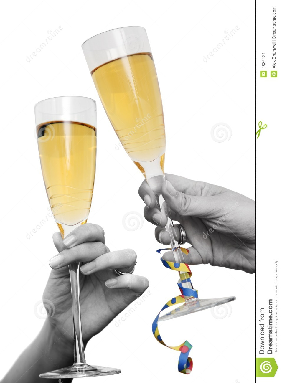 Champagne Cheers Stock Image Image 2836121