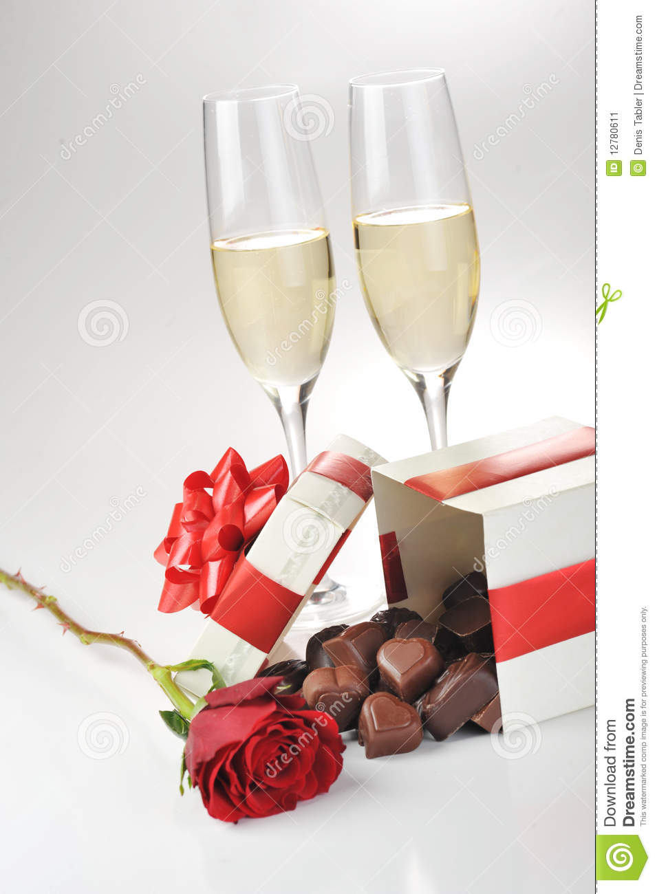 Champagne And Chocolate Stock Image Image Of Luxury