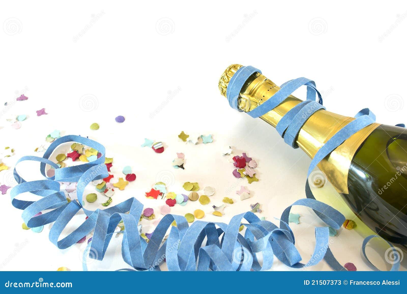 Champagne en confettien