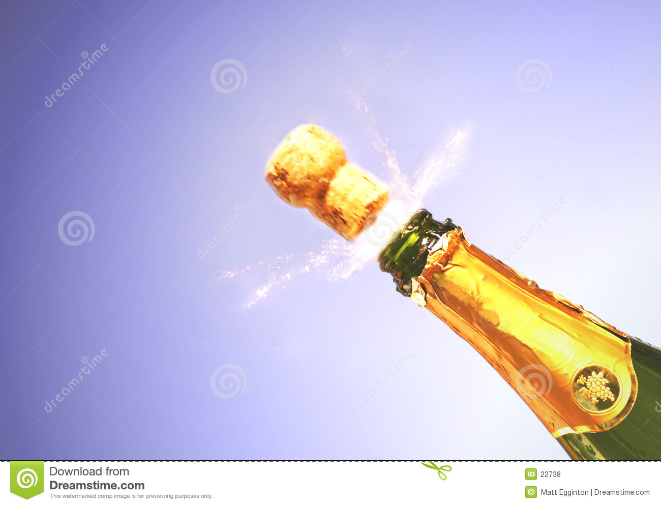 Champagne explode