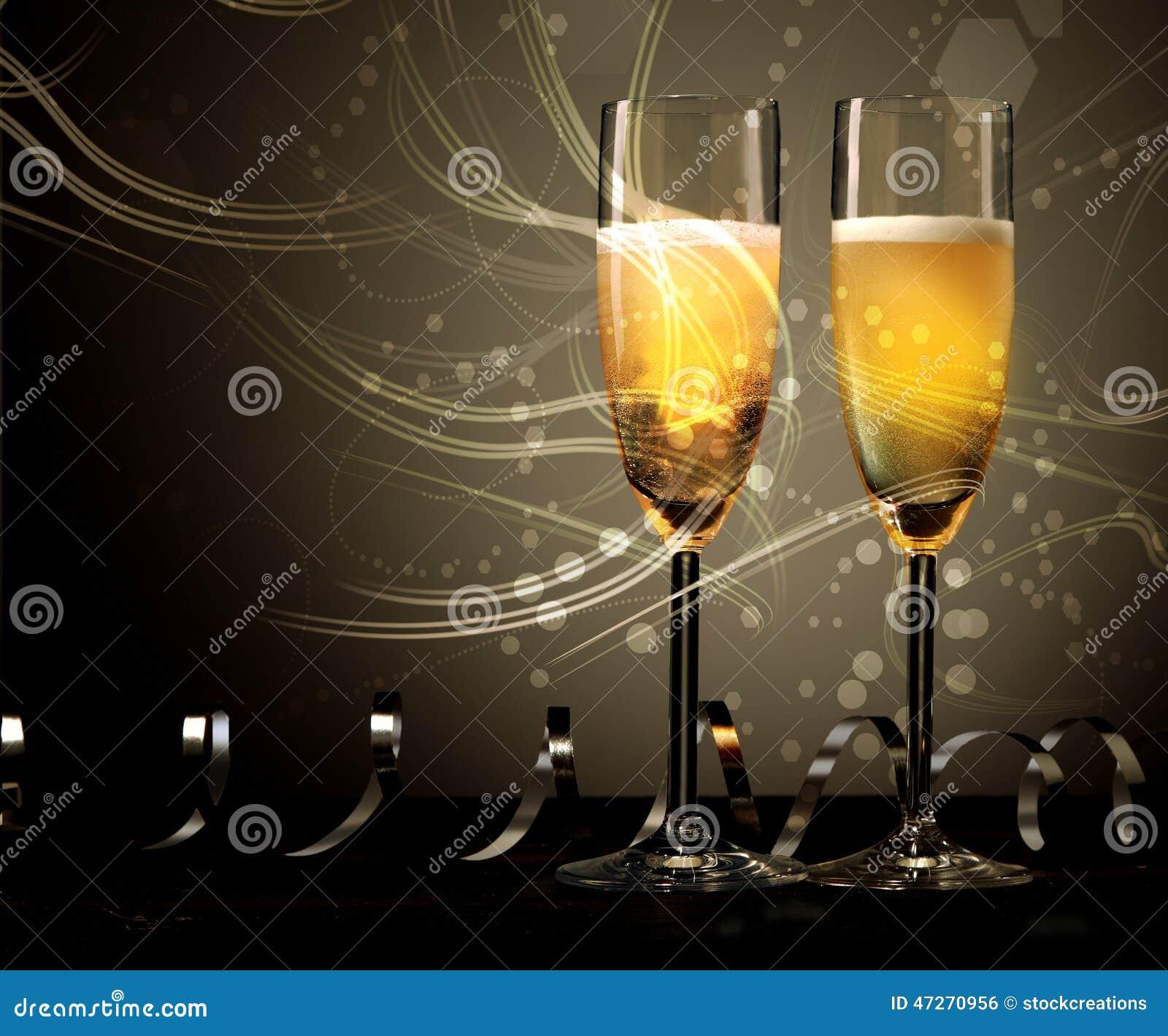 bröllop år Champagne För Nytt år, Bröllop  Eller årsdag Arkivfoto   Bild av  bröllop år