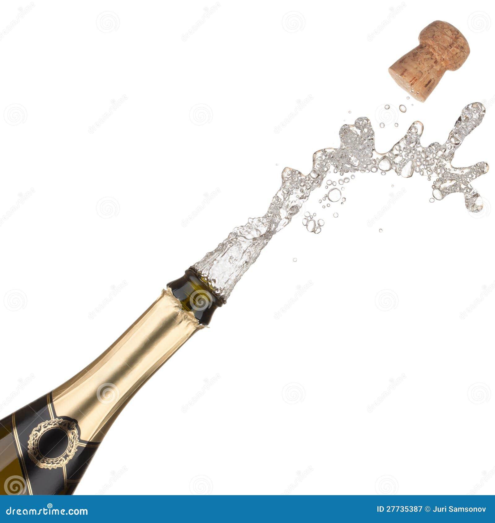 Champagne-Flaschenexplosion.