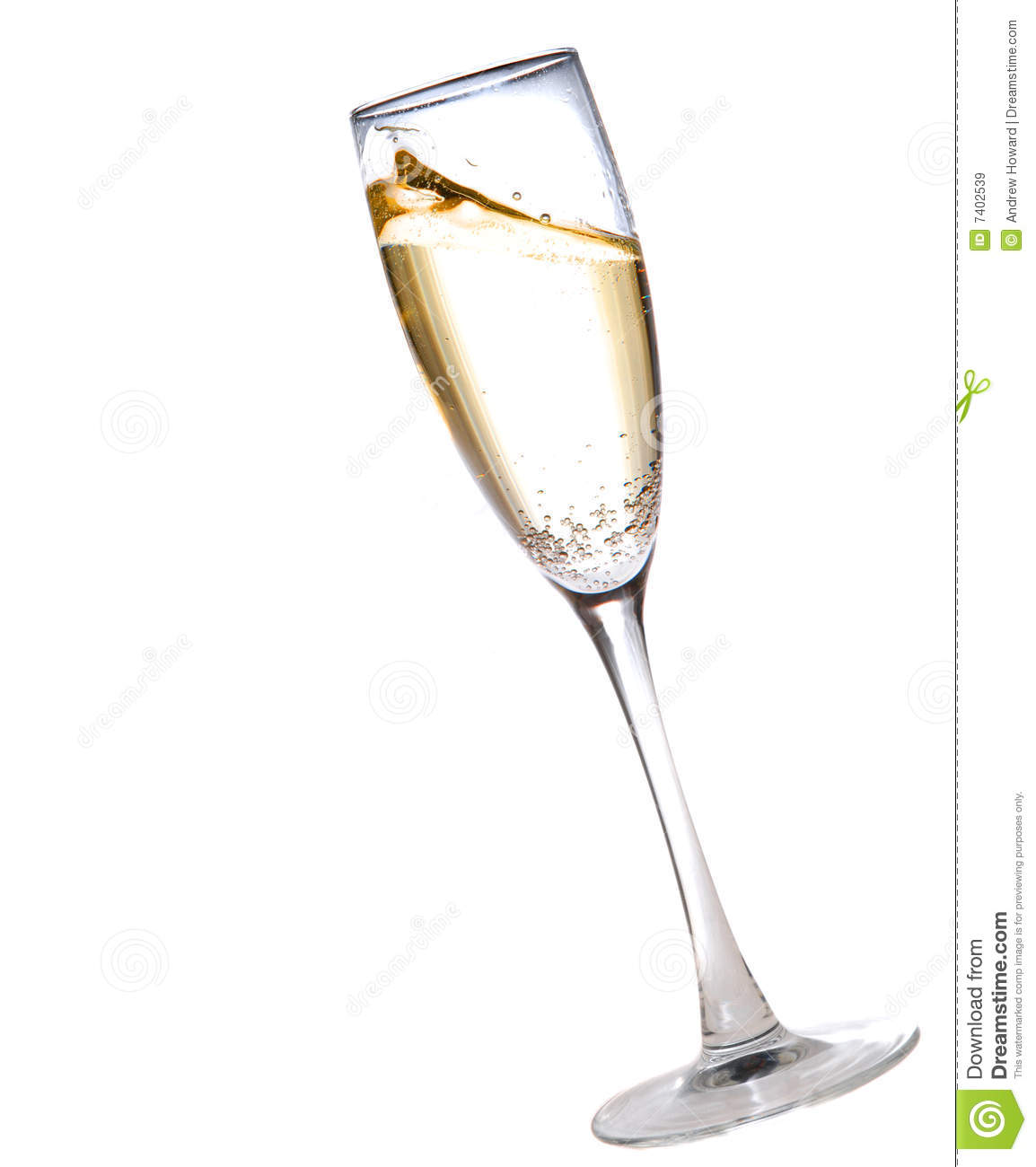 Champagne Glass Stock Image Image Of Gold Fresh