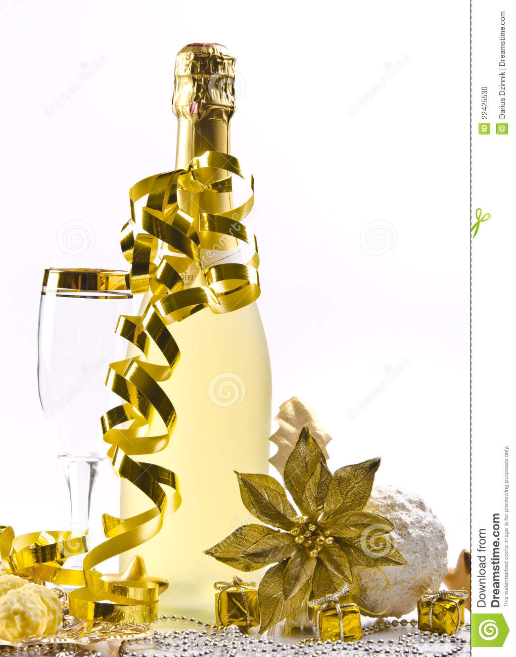 Champagne Glass New Year S Eve Stock Photo Image 22425530