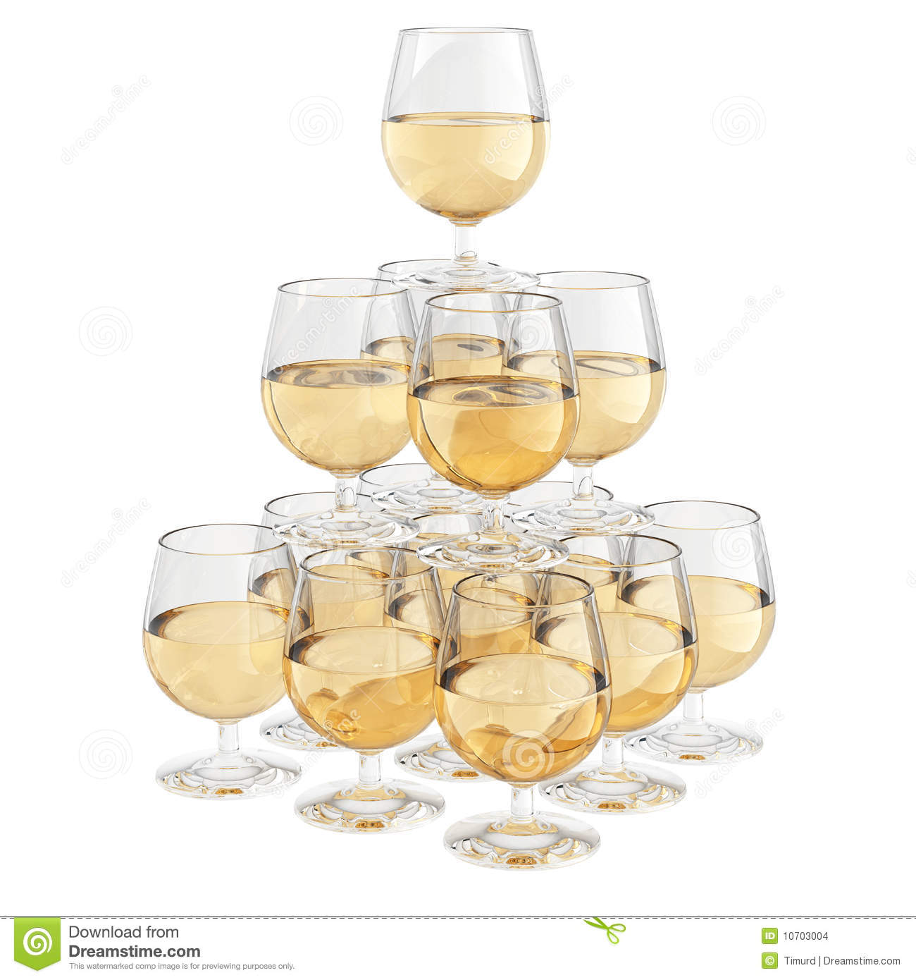 champagne glass pyramid stock illustration image of glass. Black Bedroom Furniture Sets. Home Design Ideas