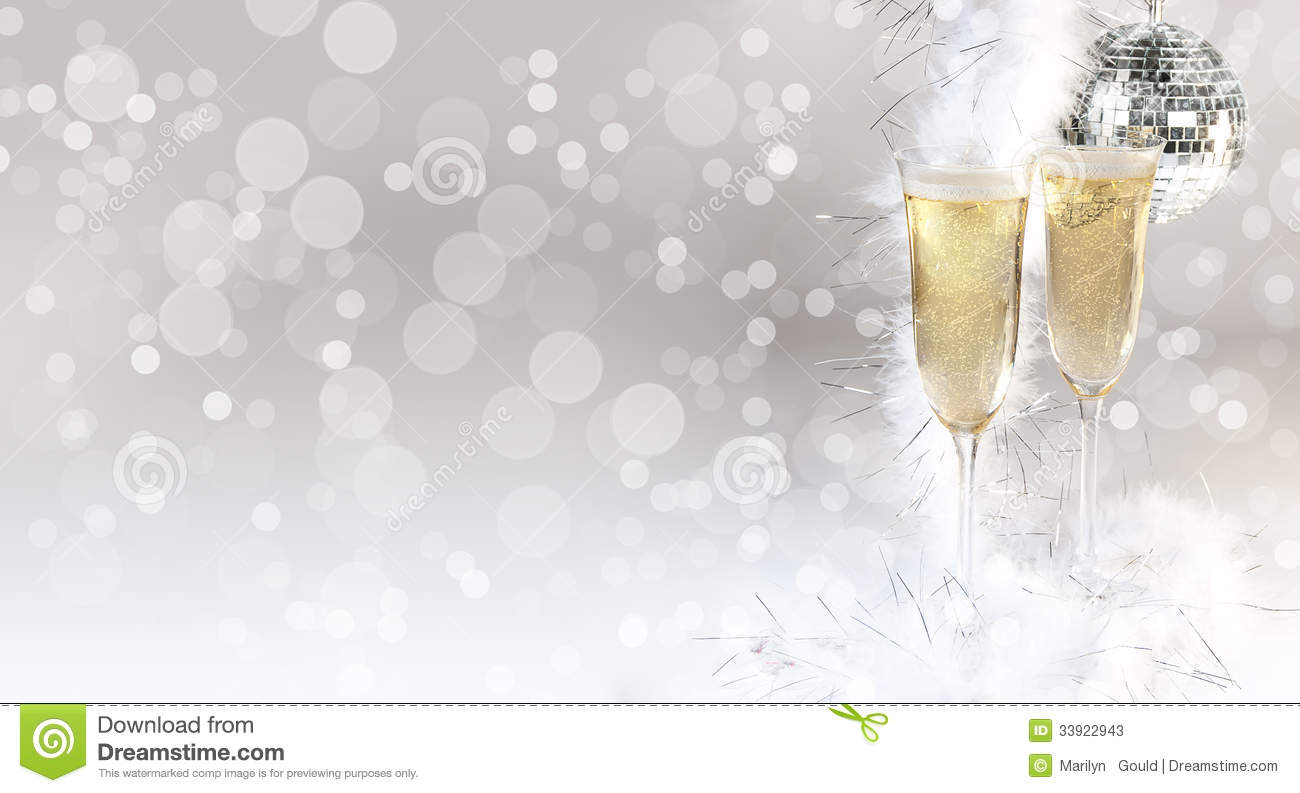 Champagne Glasses Filled Stock Image Image Of Celebration