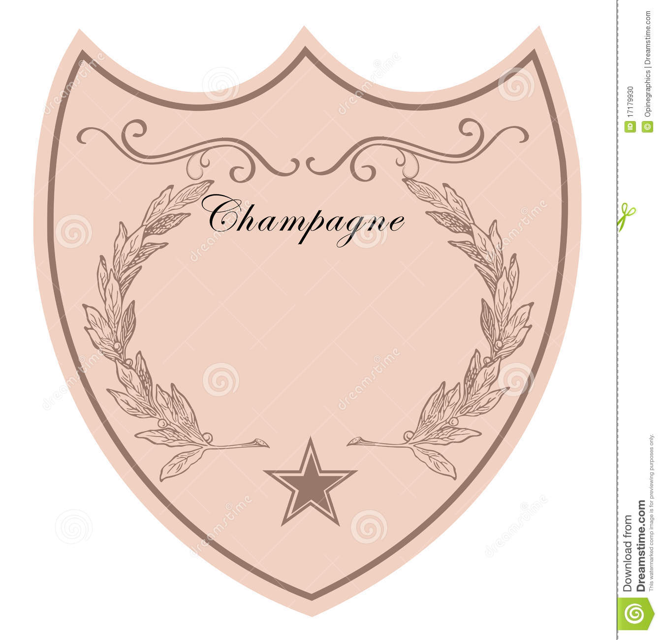 Champagne Label Stock Photo - Image: 17179930