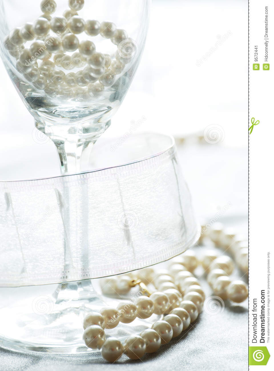 Champagne And Pearls Stock Image Image 9572441