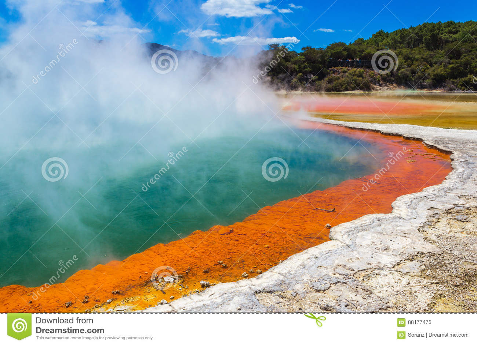 """Champagne Pool em Wai-O-Tapu ou no país das maravilhas térmico Rotorua Nova Zelândia do †sagrado das águas """""""