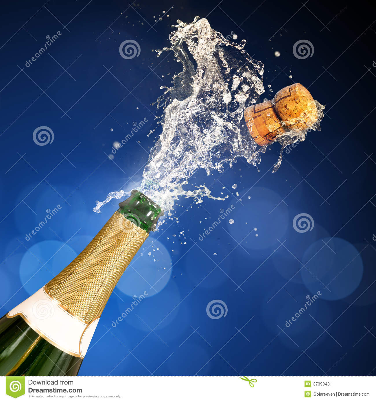 Champagne Popping Bottle Stock Image Image 37399481