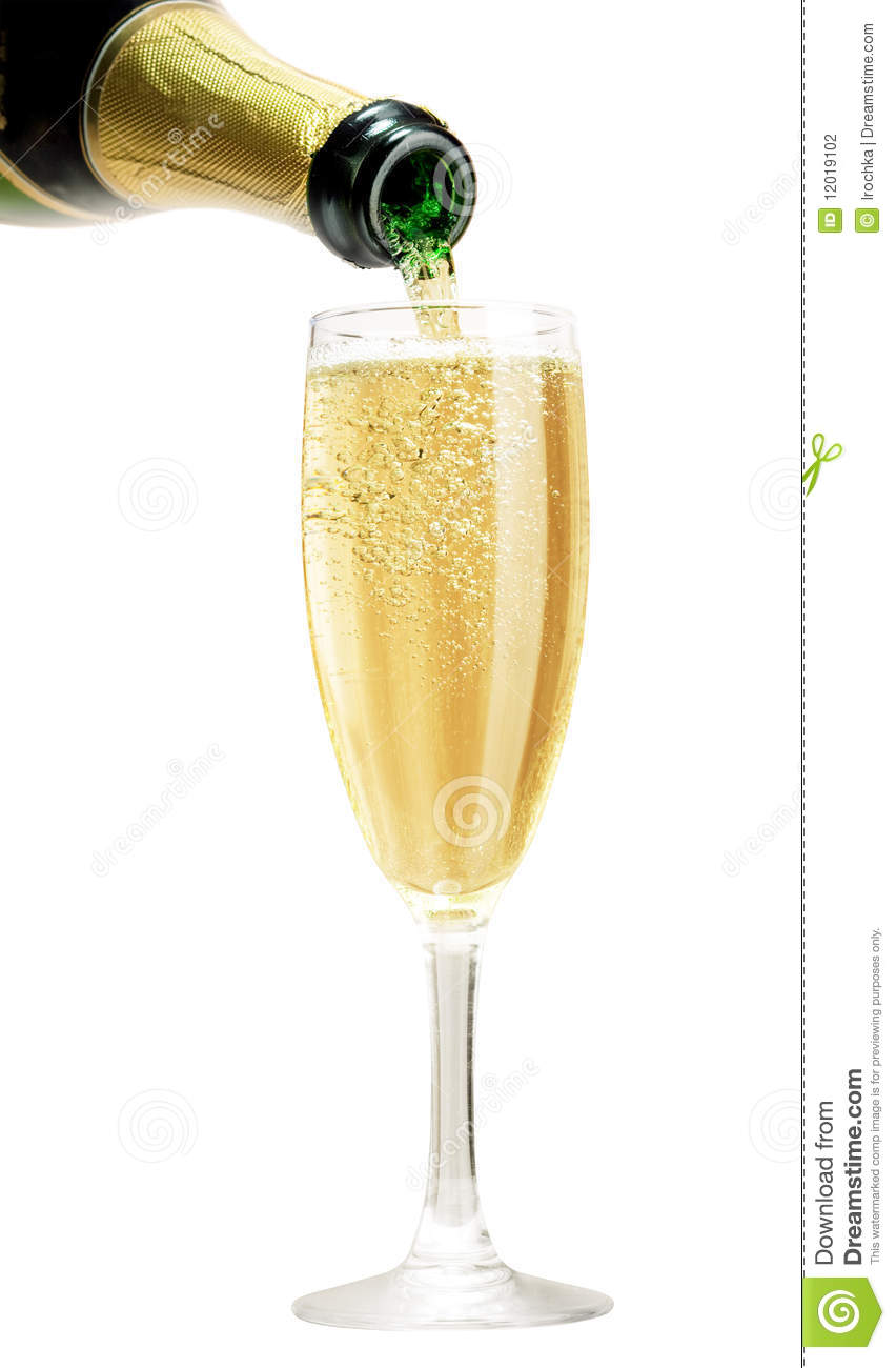 champagne pouring in glass stock photo image of green 12019102