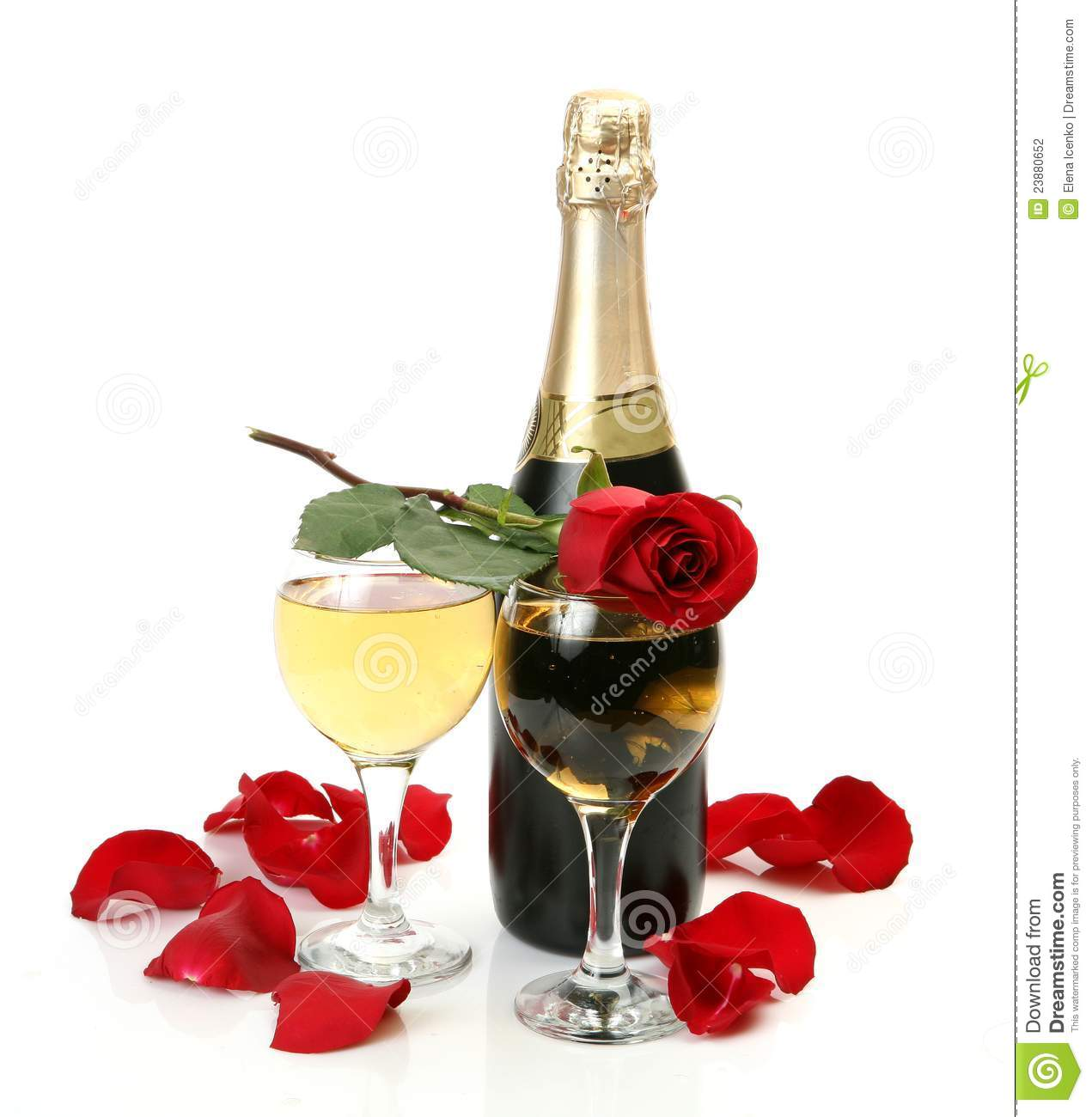 Champagne And Roses Stock Photography Image 23880652