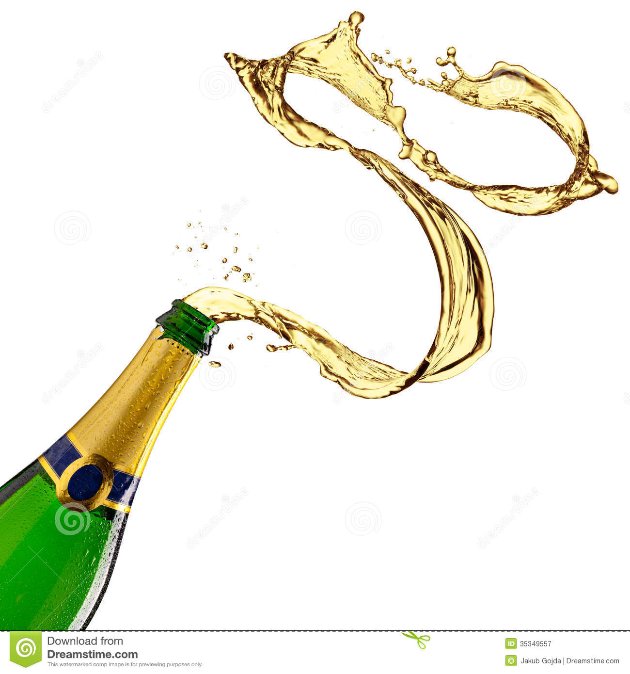 Champagne Bottle Popping Clip Art Bottle of champagne with