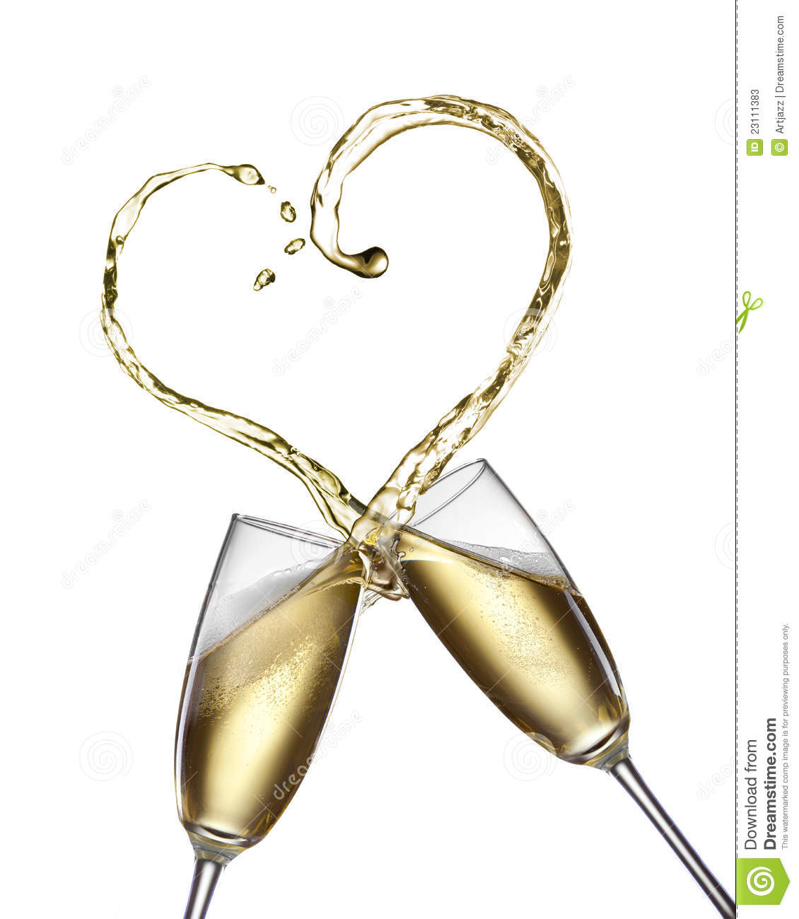 More similar stock images of ` Champagne splash in shape of heart `