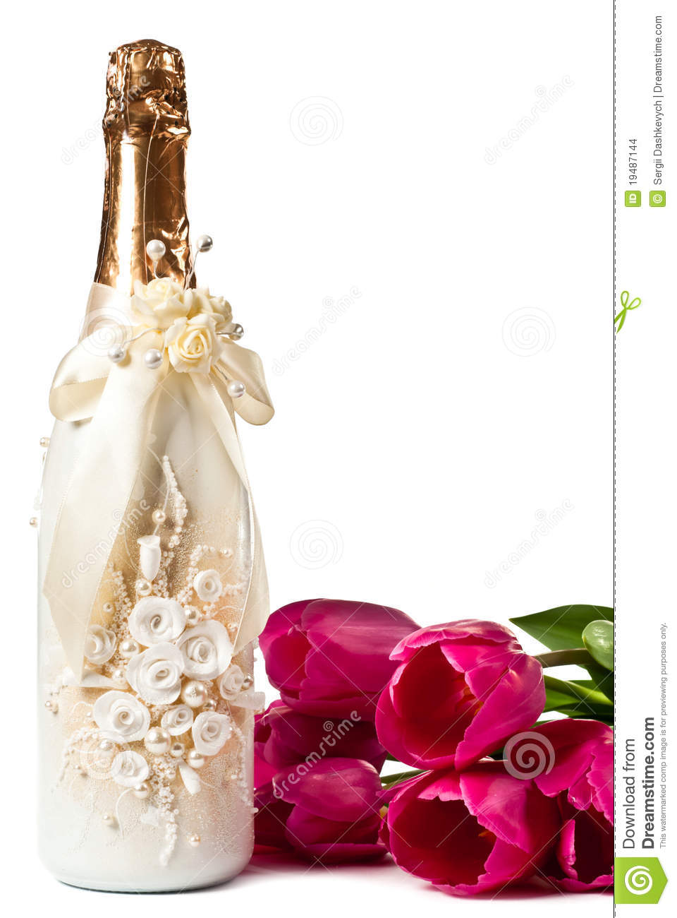 Champagne And Tulips Stock Photo Image Of Occasions 19487144