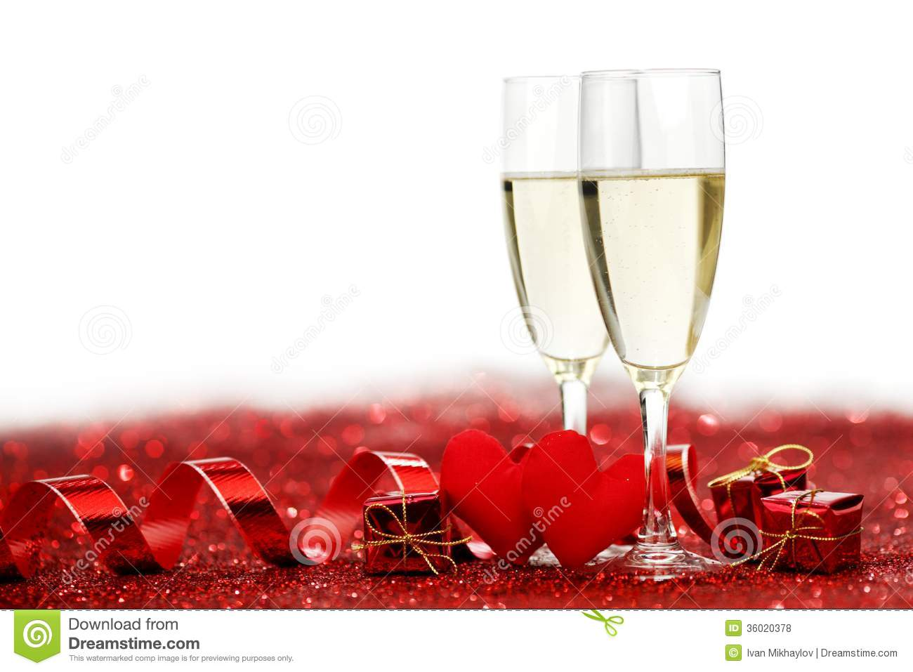champagne and valentines day decoration stock photo - image: 36020378, Ideas