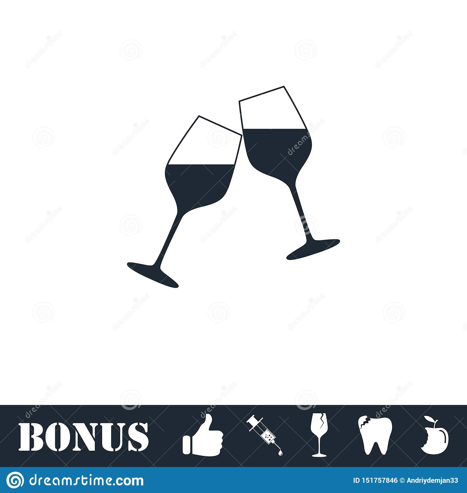 Champagne-vlak pictogram