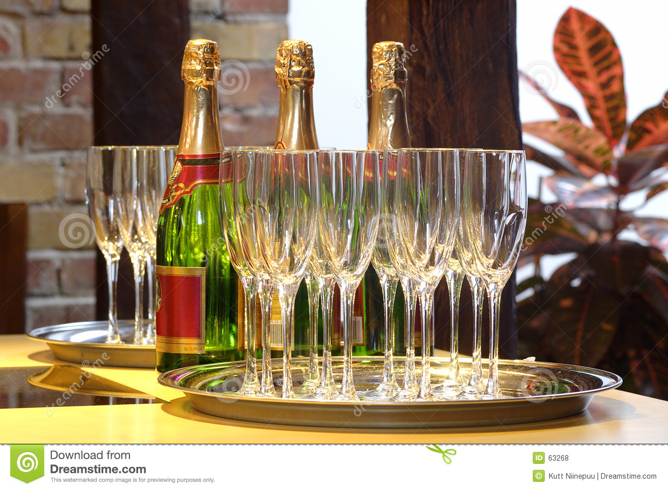 Champagne voor drie