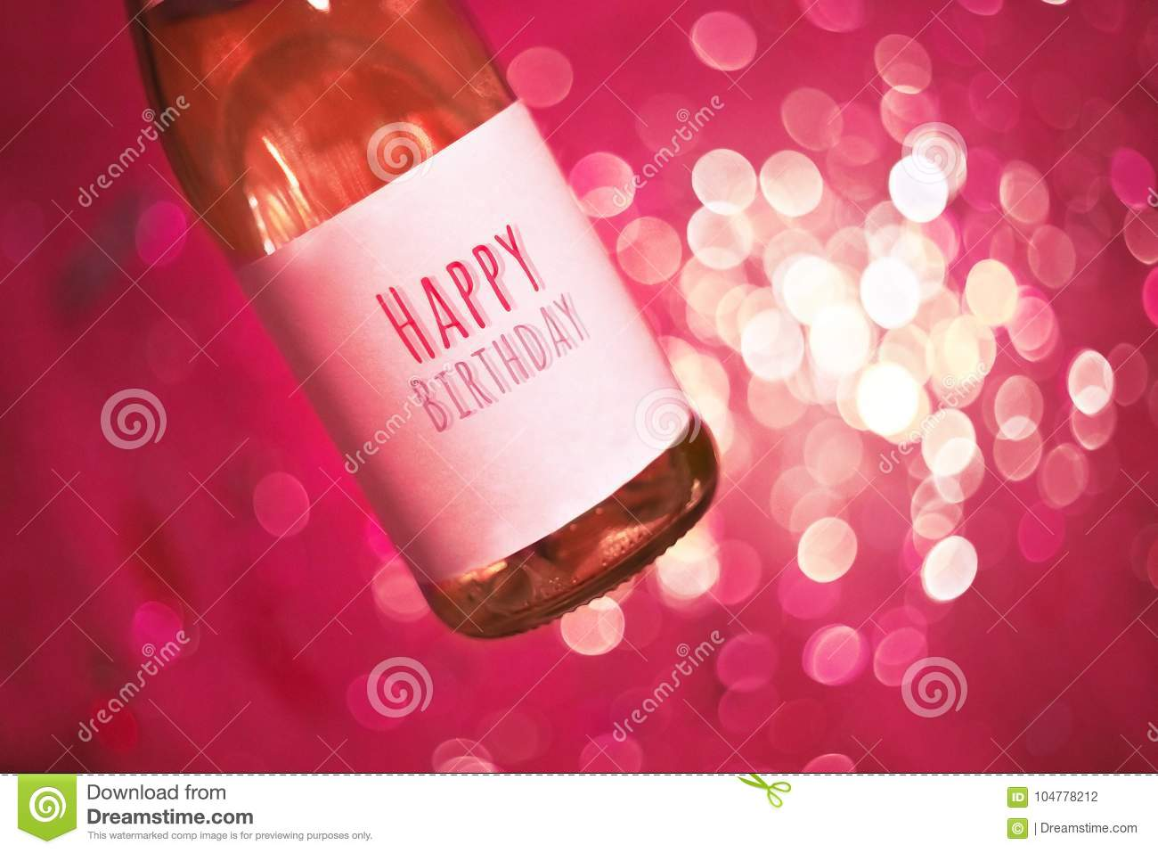 Champagne Or Win With Text Happy Birthday Happy Birthday Party