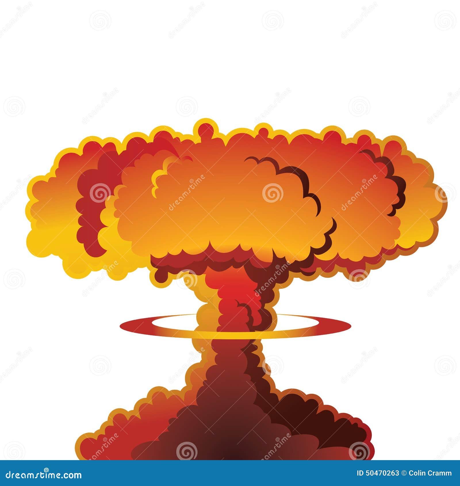 Champignon atomique d explosion nucléaire