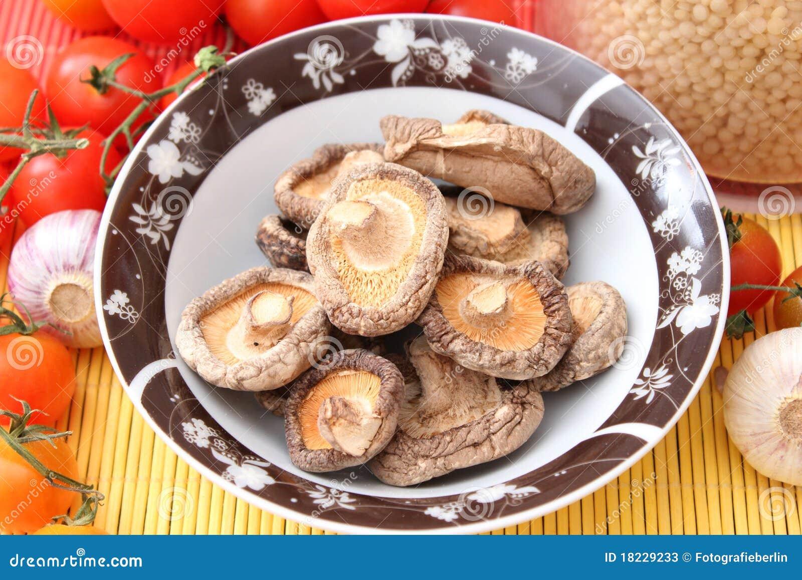 Champignons de couche de Shiitake
