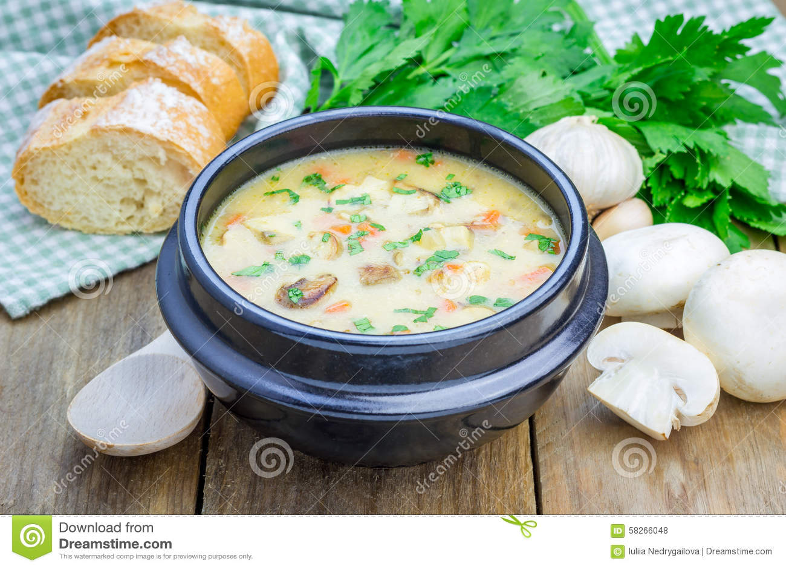 champignonsoep met kip